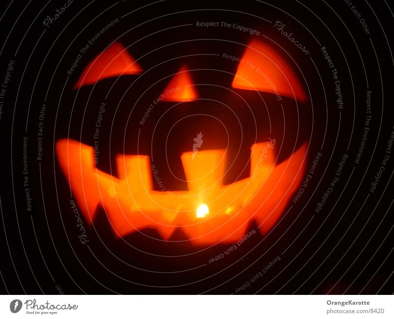 Halloween Pumpkin Head Hallowe'en Light Candle Spook Ghosts & Spectres  Creepy creep
