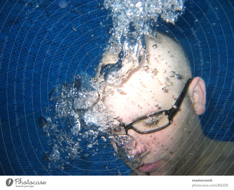 on dive station Emit Air bubble Eyeglasses Mosaic Gush of water Breathe Whirlpool Water Obscure Dangerous Underwater photo water loving subsea help oneself