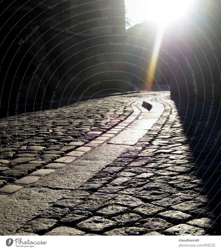City Dark Street Lanes & trails Gray Stone Sadness Hope Target Asphalt Sidewalk Fluid Traffic infrastructure Pavement Radiation Alley