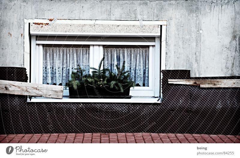 Vista pour Mardi Gras Construction site New building Window Plaster Insulation Window box Winter festival Nest Street Drape Thermal insulation Concrete Curtain