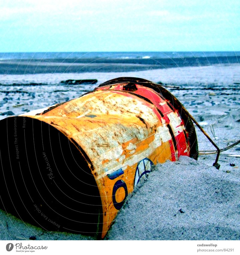 Beach Environment Sand Coast Dye Lake Horizon Dirty Change Transience Trash Decline Tin Tin Environmental pollution Bucket