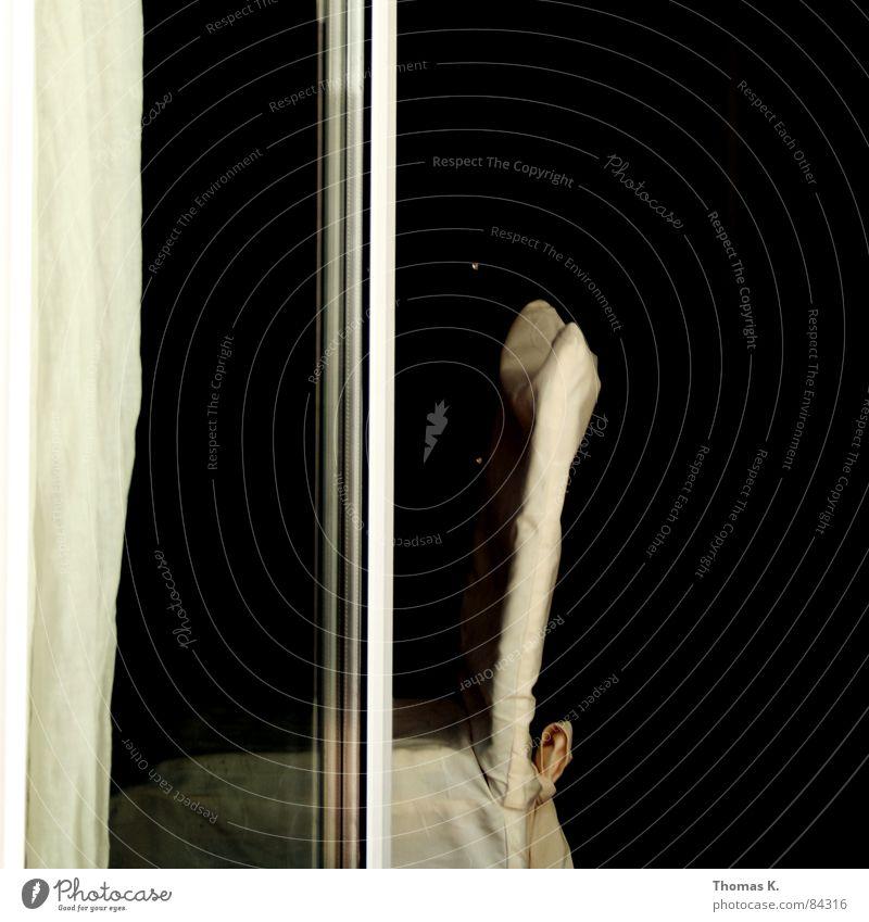 Black Window Glass Gloomy Chair Furniture Living room Drape Seating Curtain Armchair Bow Loop Backrest Stool