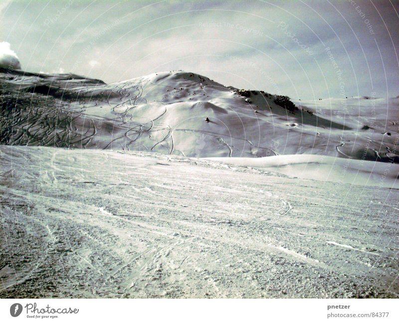 White Winter Cold Snow Mountain Frost Italy Snowscape Ski run Snowcapped peak Ski resort Snow layer Neutral color Ski tracks
