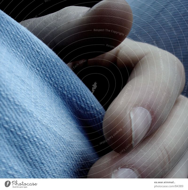 Hand Contentment Fingers Gloomy Jeans Pants Denim Flexible Thumb Cut Fingernail Self-made Forefinger Intuition Vulnerable Middle finger
