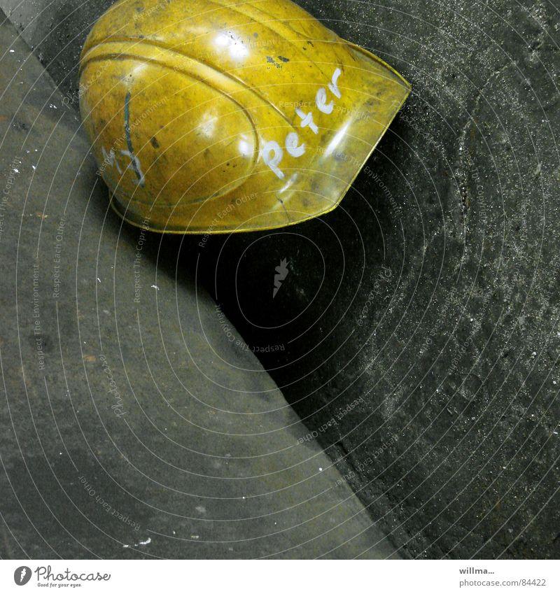 unemployed, health and safety, helmet, Peter... Work and employment Craftsperson Construction worker Industry Construction site Unemployment Workwear Helmet