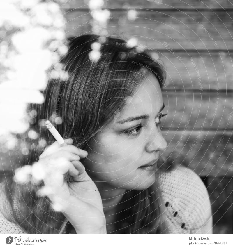 Human being Woman Youth (Young adults) Loneliness Young woman 18 - 30 years Adults Sadness Feminine Hope Smoking Longing Pain Wanderlust Concern Boredom