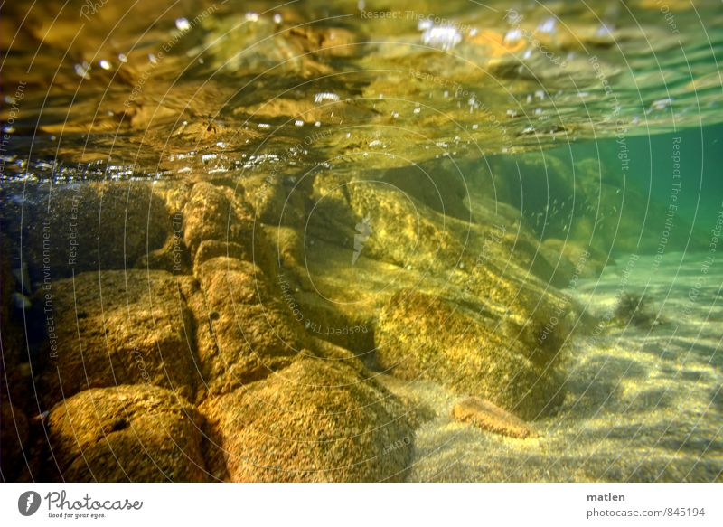 Atlantic Landscape Sand Water Ocean Deserted Brown Yellow Green Underwater photo Stone Surface of water Reflection Rock Clarity Perspective Colour photo