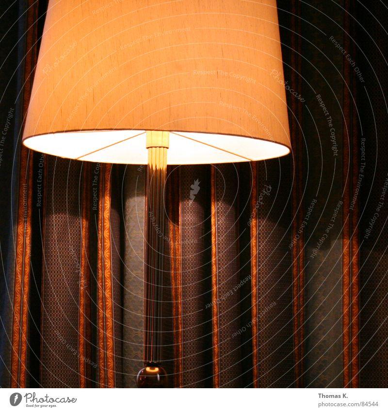 A mute witness. Light Standard lamp Drape Curtain Pattern Electric bulb Boredom dessert slut bedside lamp Light (Natural Phenomenon) Flare alternator Illuminant