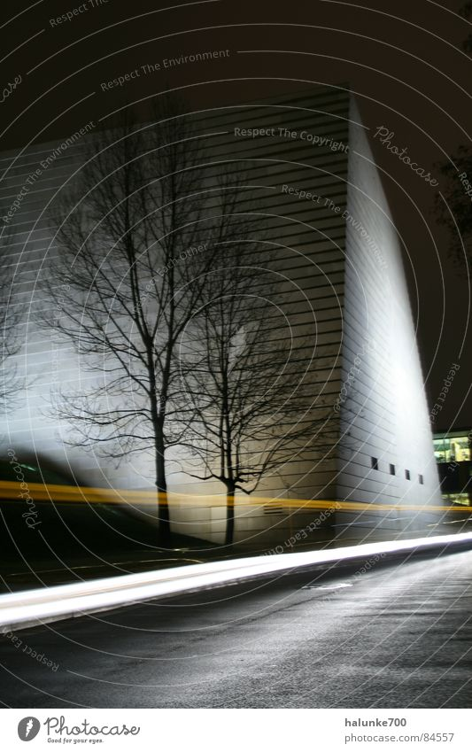 Calm Architecture Modern Dresden Snowscape Visual spectacle Saxony Synagogue Speed of light