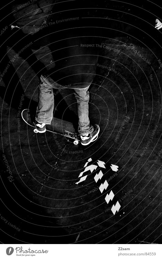 skate to the left Lie Skateboarding Left Driving Direction Compass point Halfpipe Striped Pattern Wood Action Sports Style Easygoing Salto Funsport Jeans Child