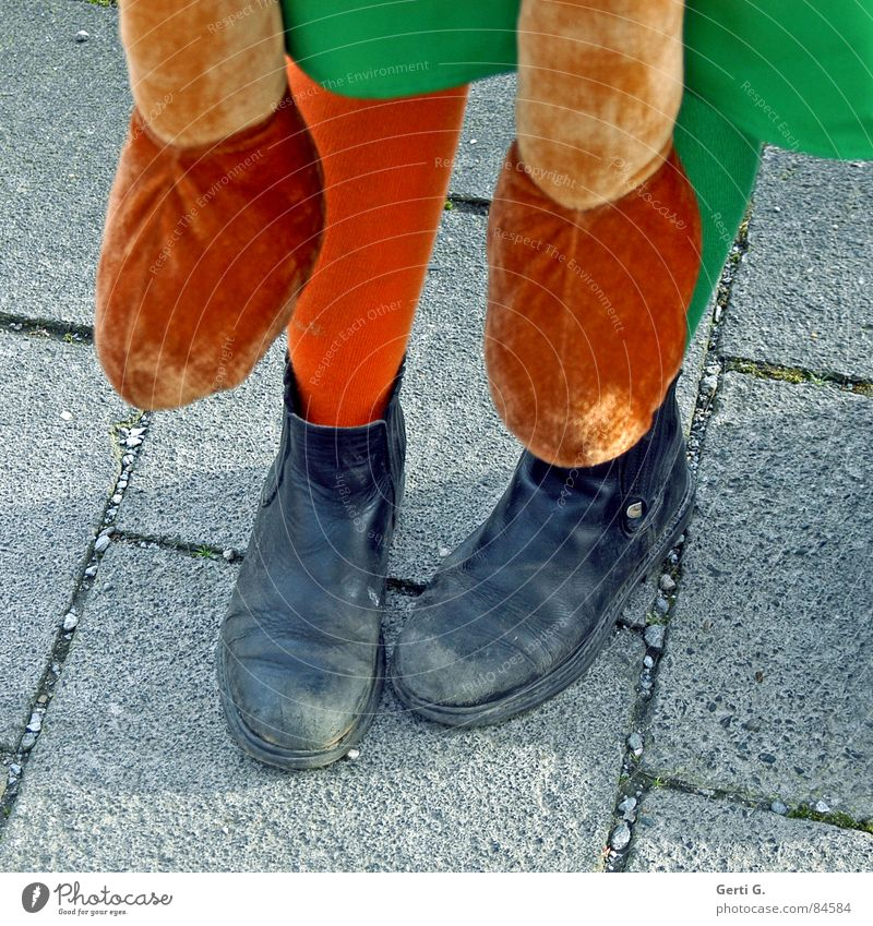 Green Joy Street Lanes & trails Feet 2 Orange Footwear In pairs Stand Clothing To go for a walk Sidewalk Blow Stockings Professional training