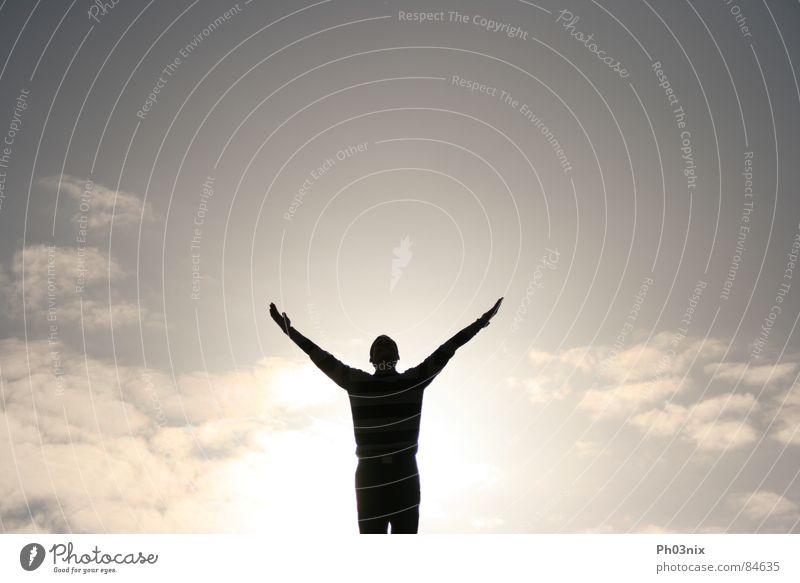 Hand Sky Sun Joy Arm God Heavenly Deities Awareness Outstretched