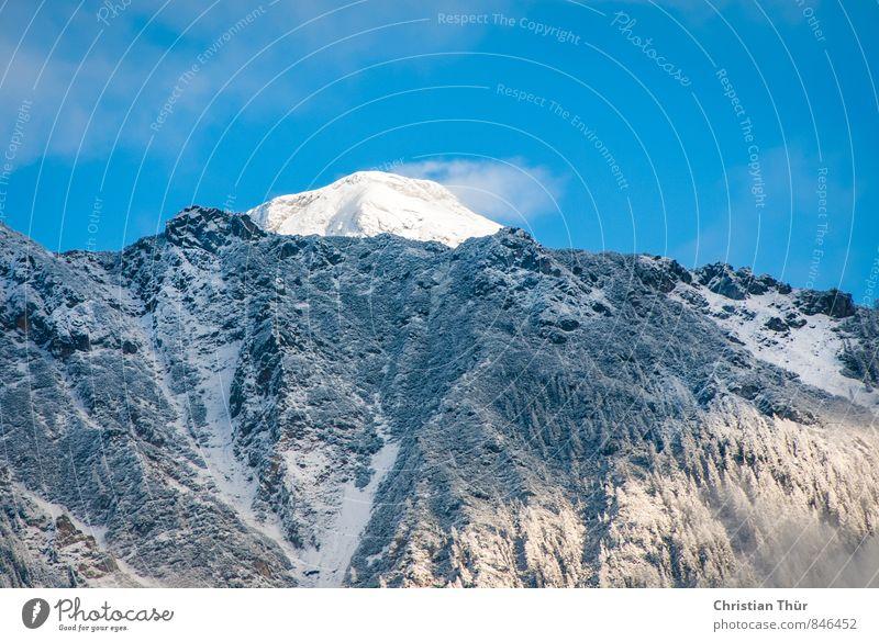 Nature Vacation & Travel Blue White Sun Clouds Black Winter Environment Mountain Life Snow Rock Contentment Tourism Esthetic