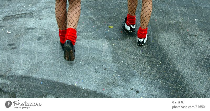 Woman Red Street Lanes & trails Couple Feet 2 Going Footwear Walking Hiking In pairs To go for a walk Mask Fantastic Thin