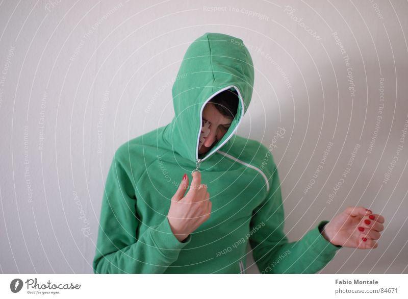 close / open (7/7) Fingernail Series of photos Close Undo Zipper green jacket Drainage