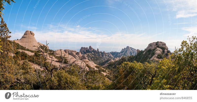 Montserrat mountains, Panorama Sky Nature Vacation & Travel Blue Summer Landscape Mountain Architecture Building Stone Rock Tourism Vantage point Places Europe