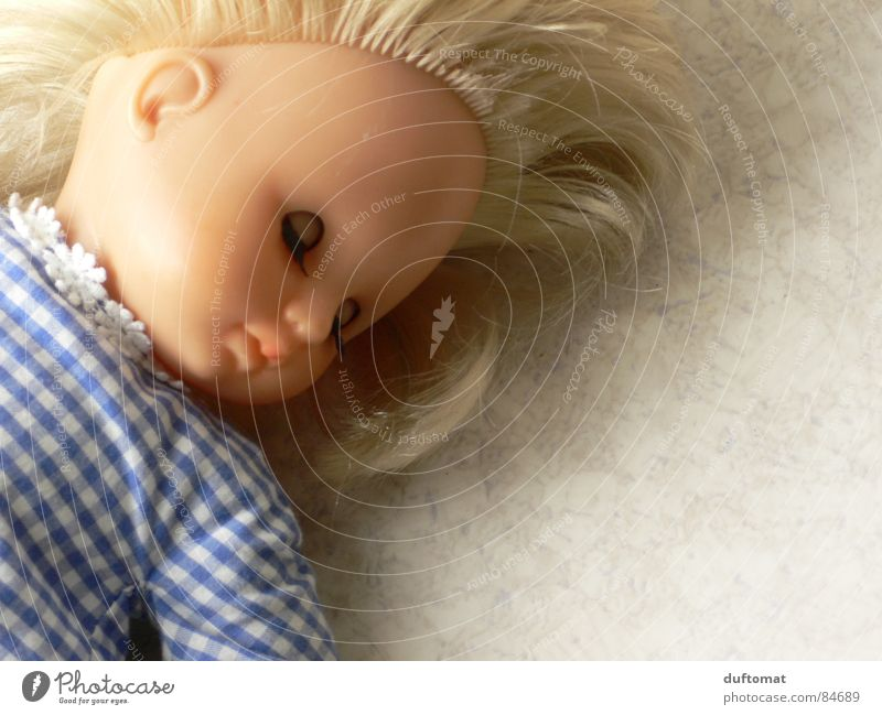 Beautiful Calm Cold Blonde Cute Sweet Sleep Toys Doll Rest Sincere Doze Children's room Daydream Heartless Cruel
