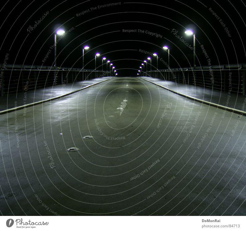 City Loneliness Black Street Architecture Lanes & trails Death Gray Empty Europe Bridge Hope Handrail Longing Street lighting Belief