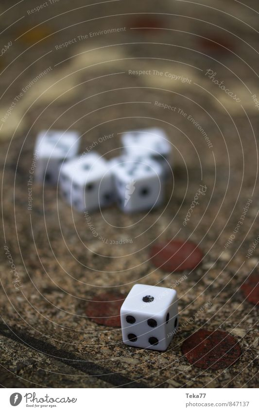 ONE - The dice have been thrown Art Stone Sign Digits and numbers Contentment Happy Communicate Dice Playing Board game Kniffel Colour photo Exterior shot