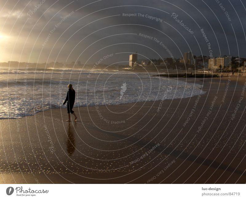 Water Sky Ocean Beach Moody Coast Lisbon