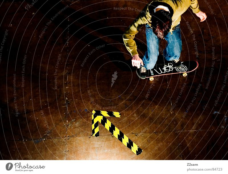 Green Yellow Colour Sports Jump Style Movement Wood Action Jeans Driving Arrow Skateboarding Dynamics Athletic Easygoing
