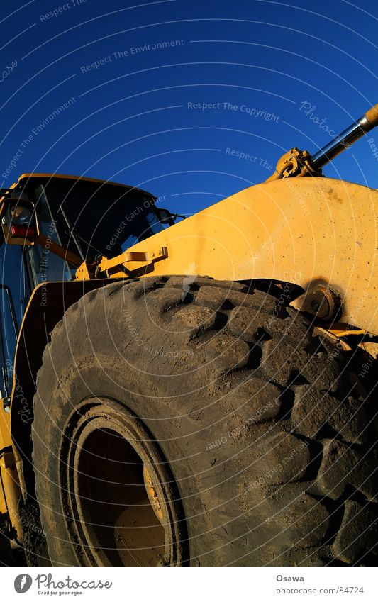 Big Boys Toys Bulldozer Excavator Construction machinery Vehicle Silhouette Tire Yellow Heavy Driver's cab Construction site Machinery Power Force
