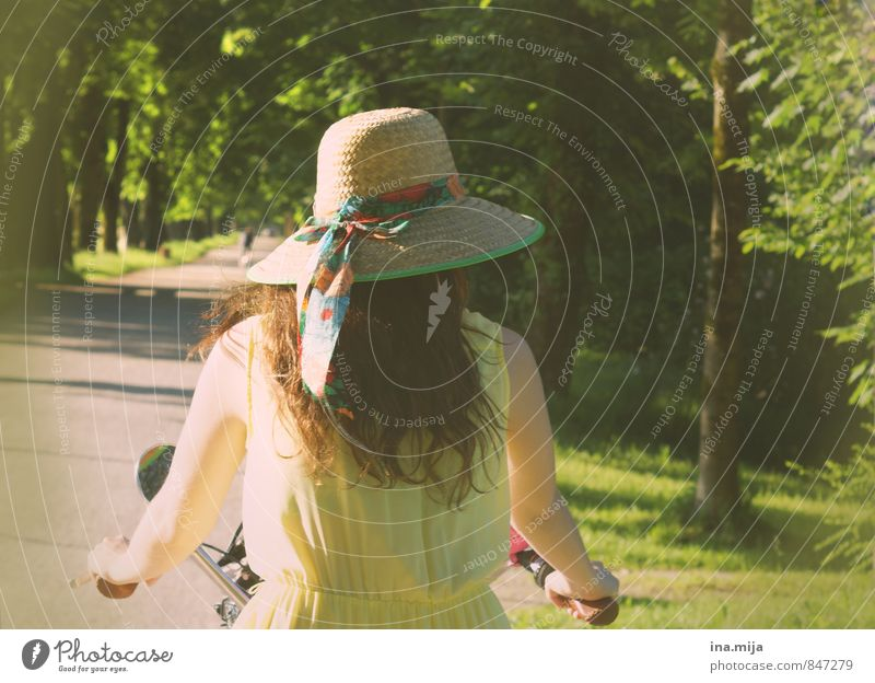Human being Child Nature Youth (Young adults) Green Summer Loneliness Landscape 18 - 30 years Forest Environment Yellow Adults Movement Feminine Freedom