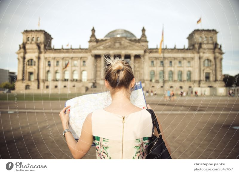 Human being Youth (Young adults) City Young woman 18 - 30 years Adults Feminine Building Berlin Germany Elegant Blonde Tourism Historic Search Manmade structures