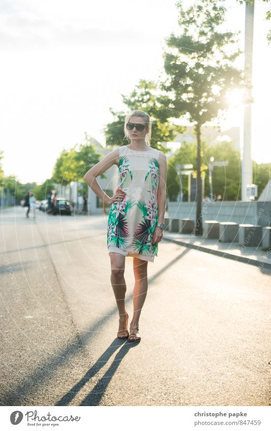 Human being Woman Vacation & Travel Youth (Young adults) City Beautiful 18 - 30 years Adults Street Style Berlin Fashion Lifestyle Elegant Blonde Stand