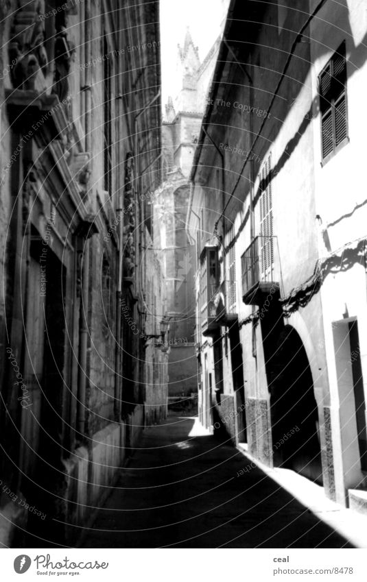 White Black Architecture Image Alley