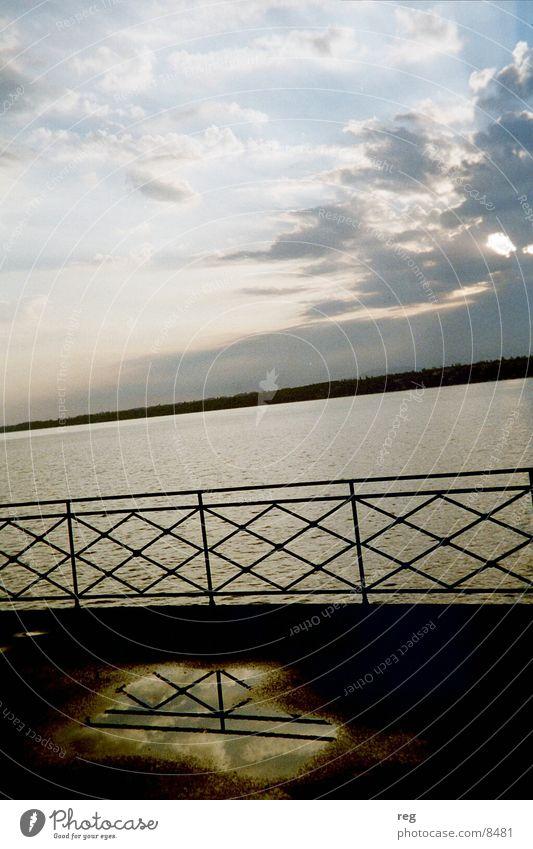 Water Sky Sun Clouds Lake Moody Handrail