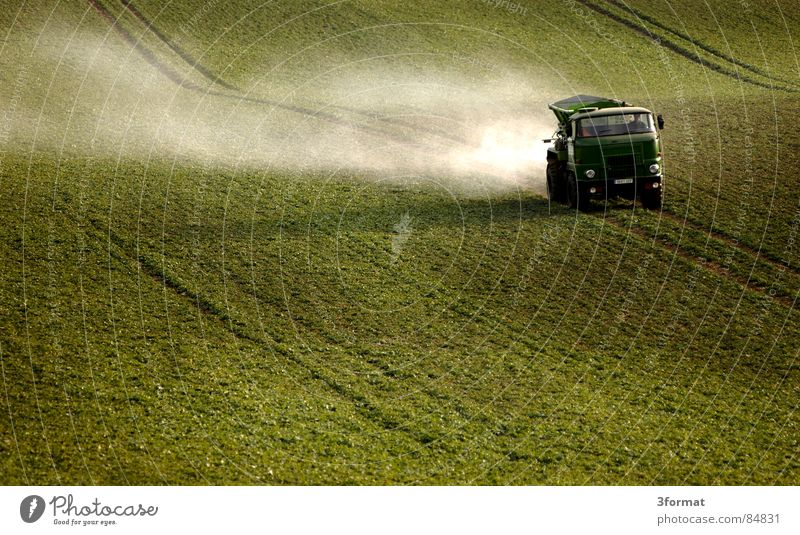 Green Loneliness Grass Spring Lanes & trails Field Fog Ground Floor covering Tracks Truck Agriculture Farmer Americas Footpath