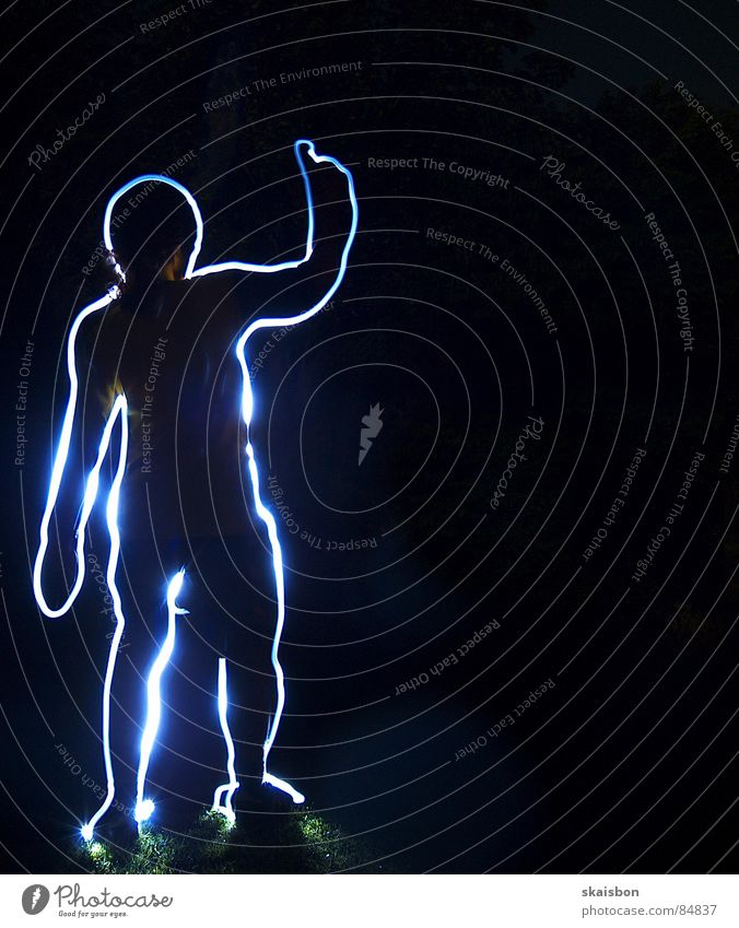 Human being Joy Dark Line Photography Body Fingers Lawn Stand Stripe Boredom Long exposure Frame Indicate Discern Anatomy