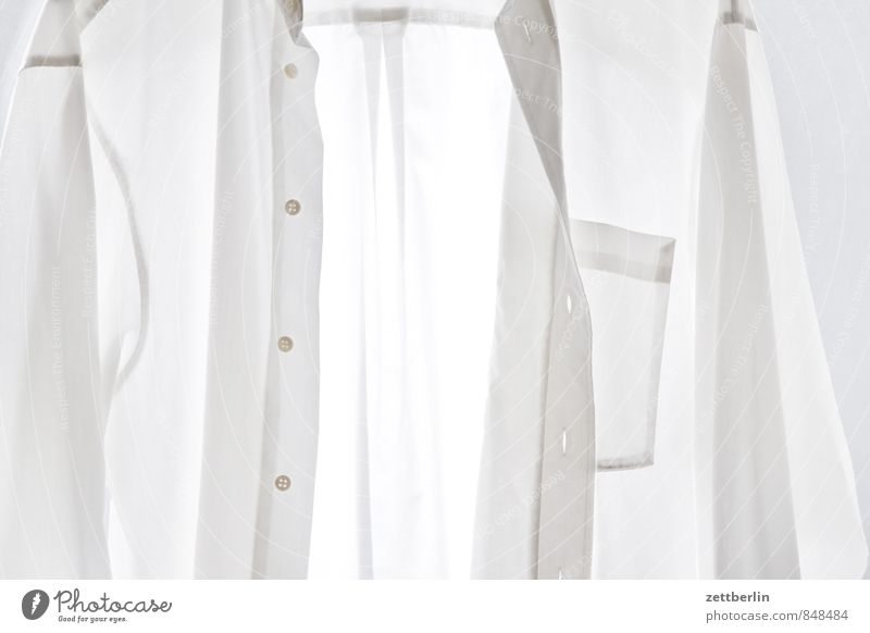 Naked White House (Residential Structure) Fashion Clothing Shirt Transparent Suit Textiles Laundry Buttons Household Clothesline Sewing Cotton