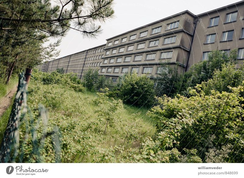 Sea side of a block of the Prora complex Vacation & Travel Tourism Trip Sightseeing City trip Summer Summer vacation Beach Ocean Germany Small Town Deserted