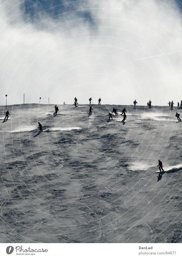 Sky Sports Snow Playing Mountain Fog Skiing Skis Austria Skier Winter sports Ski run Expressway exit Federal State of Kärnten