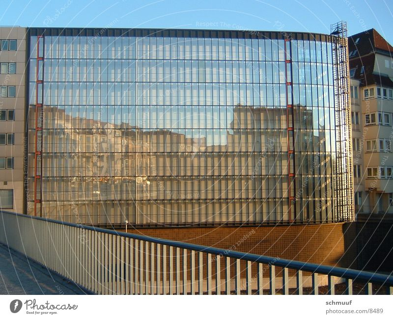 Window Architecture Glass High-rise Bridge Mirror Handrail