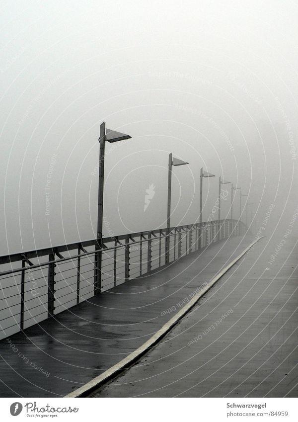 Calm Loneliness Dark Gray Sadness Rain Going Fog Wet Grief Bridge Damp Handrail Brook Doomed Erudite
