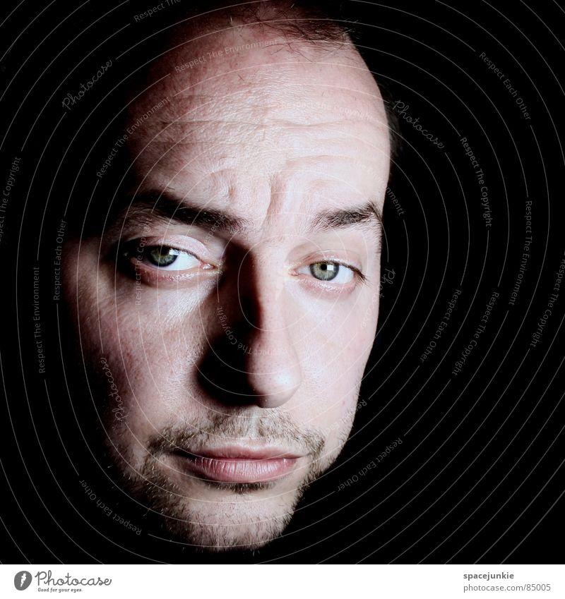 portrait Portrait photograph Dark Earnest Black Face Young man Joy Perspective Nose