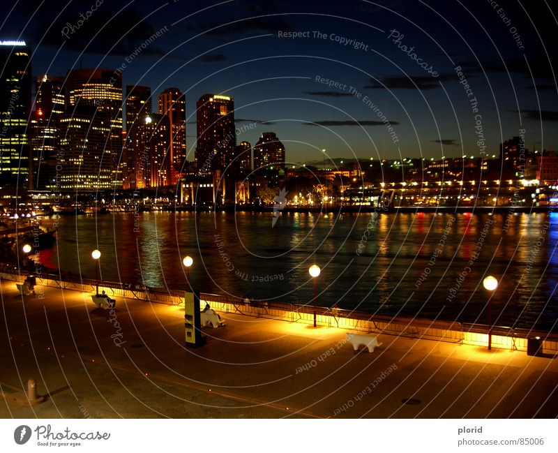 Human being Sky Water Joy Clouds Calm Relaxation Dark Freedom Warmth Lamp High-rise Electricity Bench River Physics