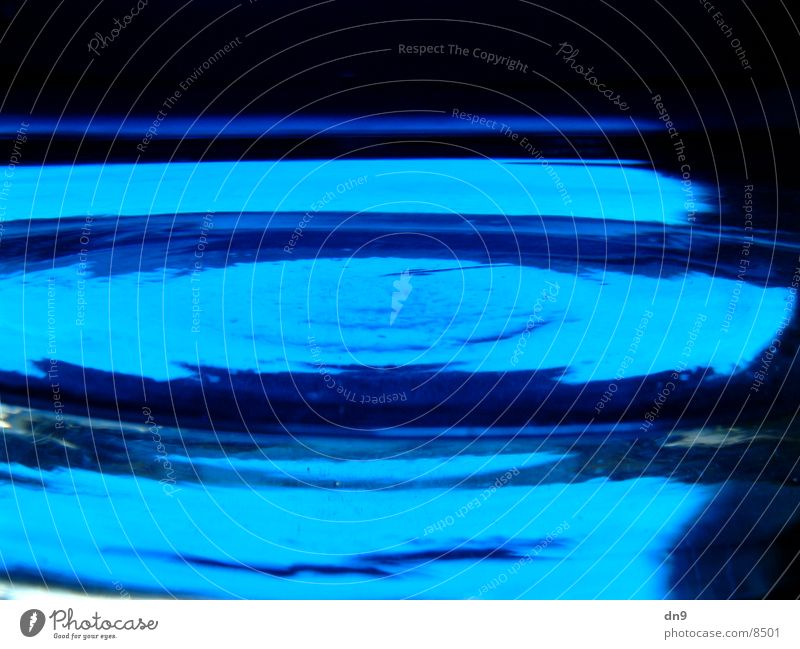 blue liquid Surface Reflection Photographic technology Blue Fluid
