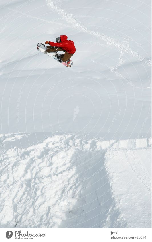 Red Joy Winter Snow Sports Flying Jump Leisure and hobbies Tall Brave Jacket Snowboard Winter sports Freestyle Switzerland Trick
