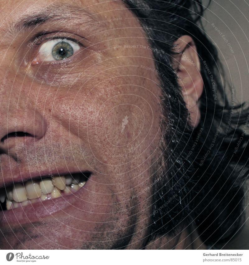 Man Face Fear Crazy Dangerous Teeth Threat Facial hair Panic Motionless Frightening Madness Torn Designer stubble