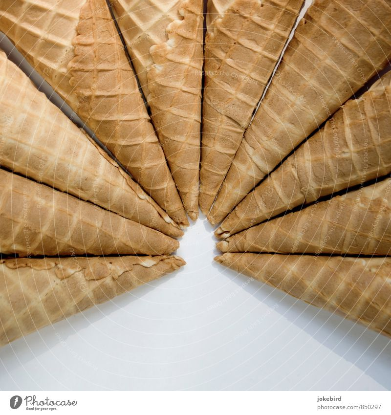wafer ballet Dough Baked goods Dessert Waffle Ice-cream cone Point To enjoy Symmetry Radial Center point Colour photo Interior shot Deserted Copy Space bottom