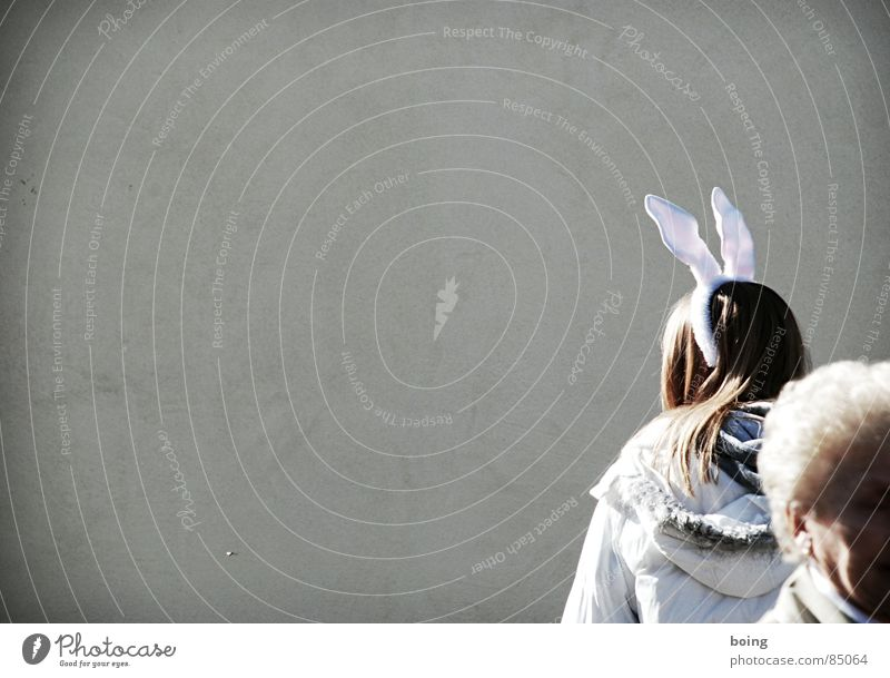 Old Joy Senior citizen Spring Transience Carnival Lady Hare & Rabbit & Bunny Woman Generation Spoon Hare ears Inter-generation contract