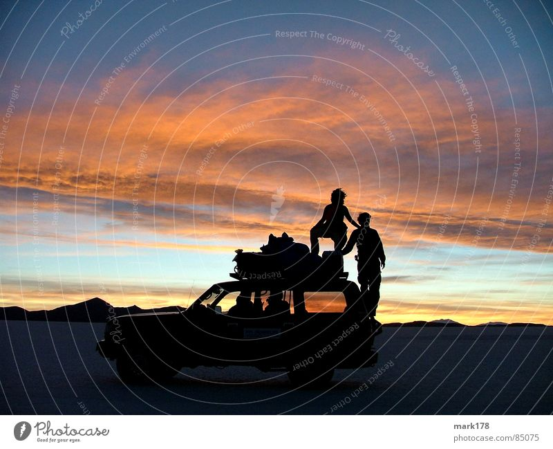 Sky Beautiful Vacation & Travel Sun Far-off places Mountain Freedom Car Moody Horizon Adventure Romance Desert Dusk South America Bolivia