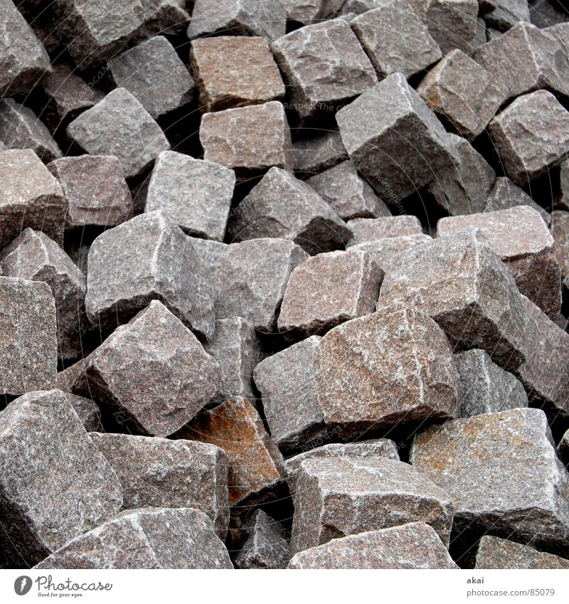 Stone Sand Earth Industry Stack Cube Heap Minerals Granite Cuboid Pile of stones