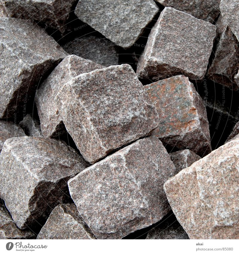 Stone Industry Stack Cube Heap Minerals Granite Cuboid Pile of stones