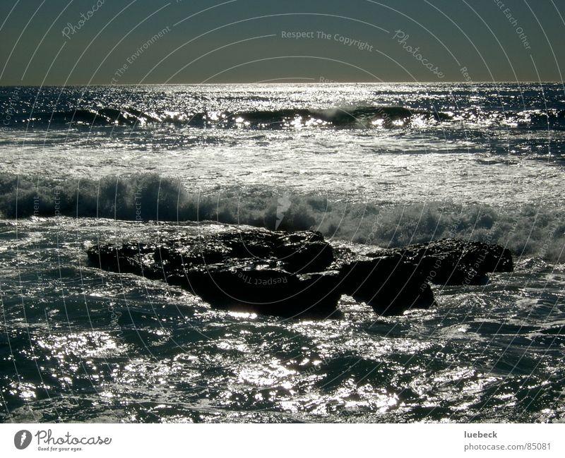 Water Ocean Waves Horizon Rock Dusk Surf Lemonade