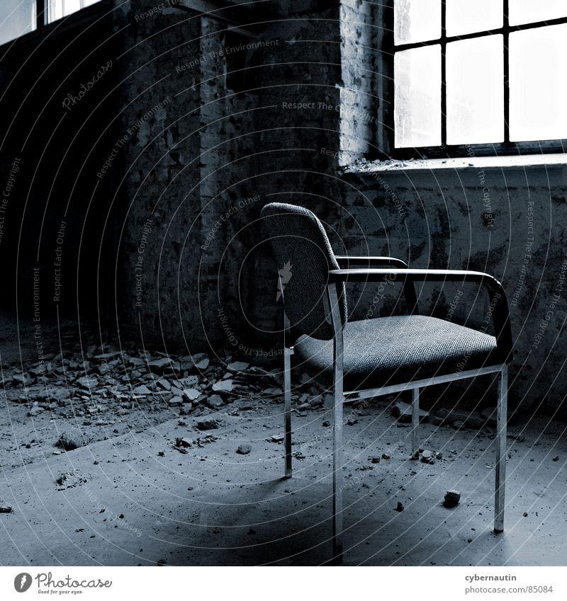Window Wait Hope Construction site Chair Desire Derelict Vantage point Redecorate